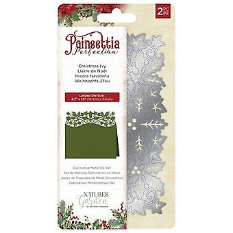 Crafter's Companion Poinsettia Perfection Christmas Ivy Die