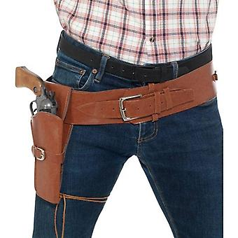 Adult Faux Leather Single Holster with Belt Adult Tan