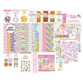 Doodlebug Design Hey Cupcake Geburtstag Mädchen Wert Bundle