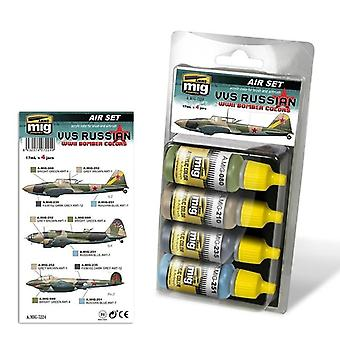 Ammo by Mig VVS Russian WWII Bomber Colors Acrylic Paint Set