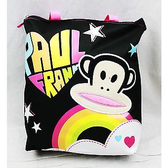 Tote Bag Paul Frank Black Rainbow Logo Girls Hand Purse 82104