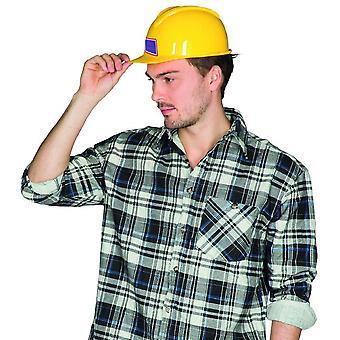 Byggnadsarbetare hjälm vuxna och barn gul hjälm skyddshjälm Tillbehör Byggarbetare