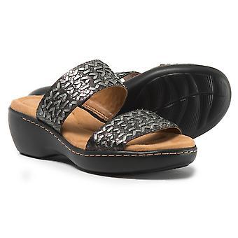 Easy Spirit Women's Shoes E-DAHLIA Leather Open Toe Casual Platform Sandals