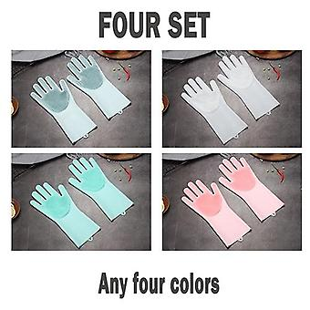Multifunction Silicone Cleaning Gloves Magic Silicone Dish Washing Gloves For Kitchen Household Silicone Dishwashing Gloves