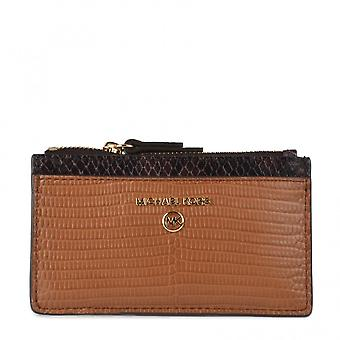 MICHAEL Michael Kors Small Two-tone Embossed Leather Card Case Luggage