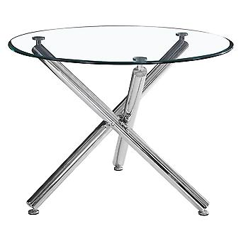 "Lincoln Ii Dining Table, 40""Dia - Chrome"