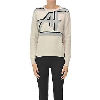 Alberta Ferretti Ezgl095051 Women's Beige Wool Sweater