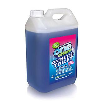 Cassette Toilet Behandeling 5L Concentrate voor Flush en Afval tanks door One Chem
