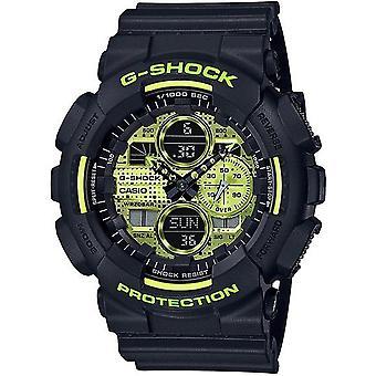 G-Shock Ga-140dc-1aer Neon Yellow & Black Resin Men's Watch