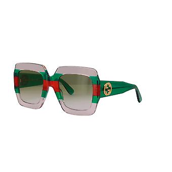 Gucci GG0178S 001 Multicolour Green/Green Gradient Sunglasses