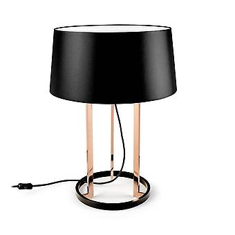 Leds-C4 GROK - 3 Light Table Lamp Black, Copper with Fabric Shade, E27