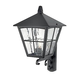 1 Lys udendørs væg Lantern Light Sort IP43, E27