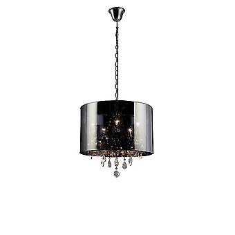 Geïnspireerd diyas - Trace - Plafondhanger met Chrome Shade 5 Licht gepolijst chroom, kristal