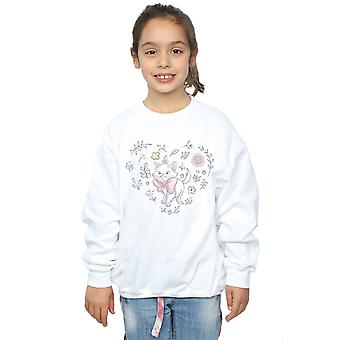 Disney Mädchen die Aristocats Marie Herz Sweatshirt