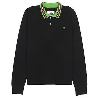 Vivienne Westwood Ls Polo Stripe Collar Zwart