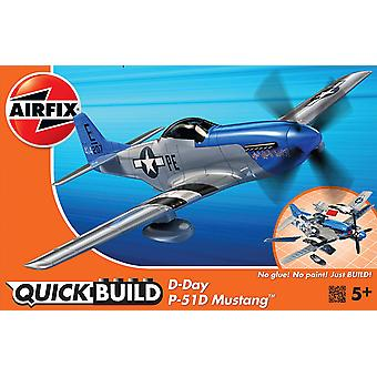 Airfix J6046 Quickbuild D-Day Mustang Modèle Kit