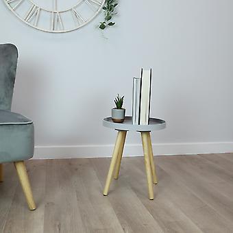Charles Bentley Taca Top Side Table z pine legs grey living sypialnia Scandi