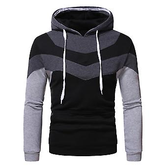 YANGFAN Mens Colour Block Pullover Sweathage à manches longues Pullshirts casual tops