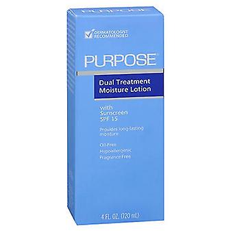 Bausch And Lomb Purpose Dual Treatment Moisture Lotion with SPF 15, 4 Oz