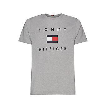 Tommy Hilfiger Flagge Tee dunkelgrau Heather