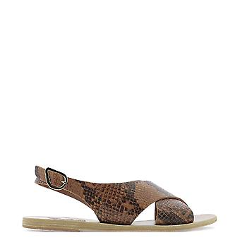 Sandales grecques antiques Mariavachettacowleatherpythontampa Women-apos;s Brown Leather Sandals