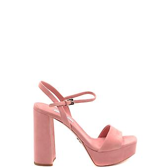 Prada Ezbc021057 Women's Pink Suede Sandals