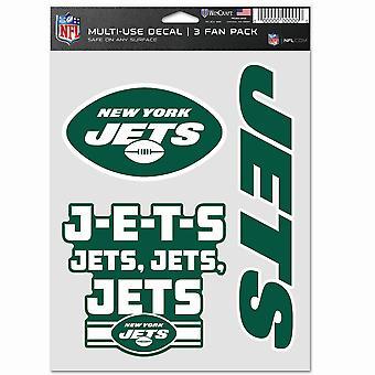 NFL Sticker Multi-Use Set of 3 20x15cm - New York Jets