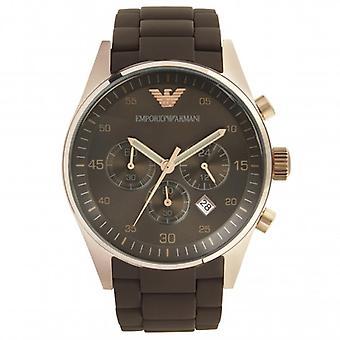 Armani Mens Brown Chronograph Watch Ar5890