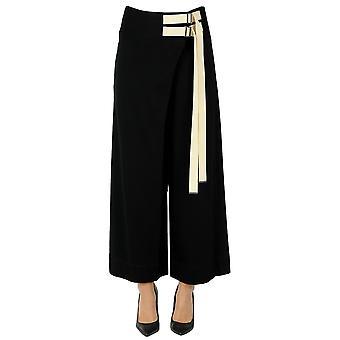 Yohji Yamamoto Ezgl123015 Women's Black Cotton Pants