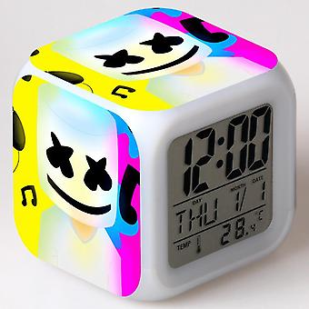 Colorful Multifunctional LED Children's Alarm Clock -Marshmello #15