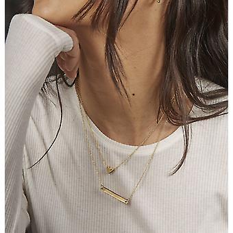 Anfänge vergoldet 925 Sterling Silber ID Bar Halskette der Länge 41-50cm