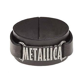 Metallica ranneke classic-yhtyeen Logo uusi virallinen Alchemy musta nahka lukon
