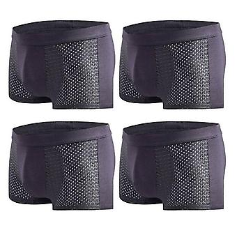 Summer Men's Underwear Ice Mesh Breathable Sexy Youth Boxer Bamboo Ventilate