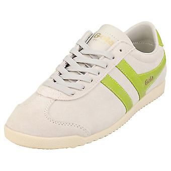Gola Bullet Womens Fashion Trainers in Off White Citron