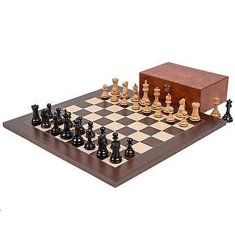 Windsor Ebony and Montgoy Palisander Chess Set