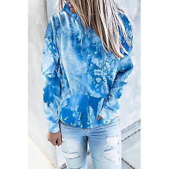 Casual Tie-dye Print Pullover Hoodie