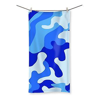 Blue camo 1 beach towel