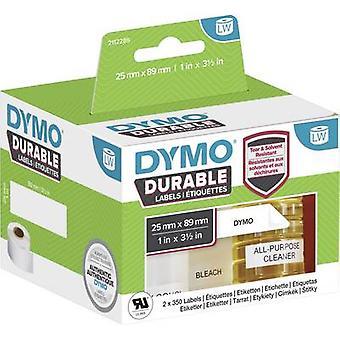 DYMO 1933081 Label roll 89 x 25 mm PE film wit 700 PC('s) permanente All-purpose etiketten, adresstickers