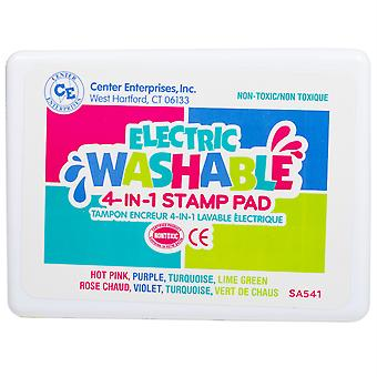 Jumbo 4-In-1 Washable Stamp Pad, Electric
