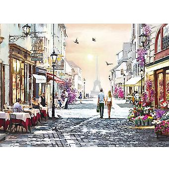 Know me 1000 Pieces Jigsaw Puzzles for Adults - Paris Street Oil Painting Puzzles 1000 Piece