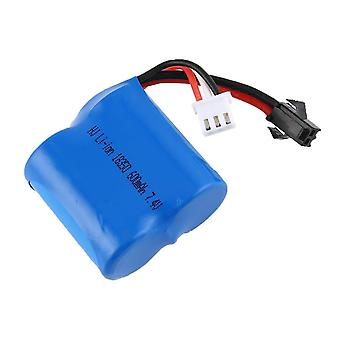 Rc boat 7.4v 600mah lithium-ion battery for boat rc skytech h100 h102 h106 syma q2 q3