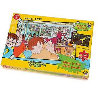 University Games Horrid Henry Face off 100pc Glow in the Dark Puzzle