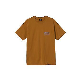 Stussy Windflower S/S T-Shirt Caramel - Clothing