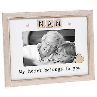Shudehill Giftware Scrabble Sentiment - Nan 6 X 4 Photo Frame