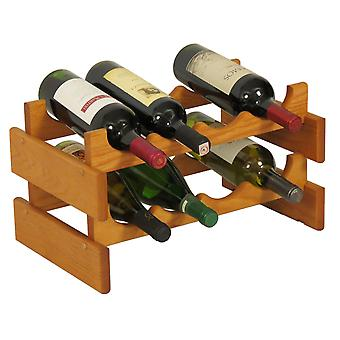 Legno Martello 8 Bottiglia Dakota Wine Rack, Rovere Medio