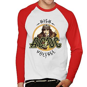 AC/DC High Voltage Angus Young Men's Baseball Long Sleeved T-Shirt