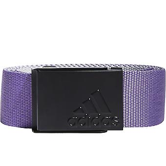 adidas Performance Mens Golf Plain Weave Adjustable Reversible Web Belt - Purple