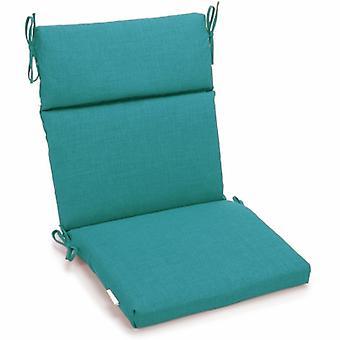 Coussin de chaise carrée extérieure en polyester de 18 pouces par 38 pouces - Aqua Blue