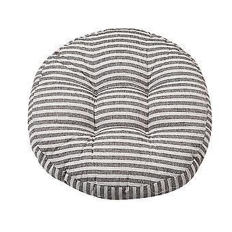 Verdikking ronde stoel kussen katoen linnen gestreepte zitkussens