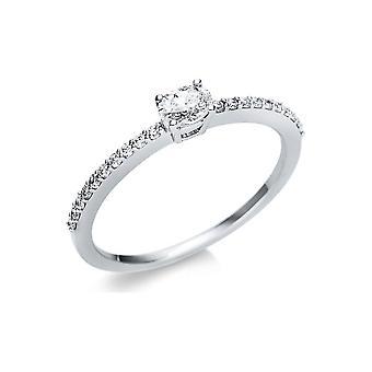 Luna Creation Promessa Solitairering con ribete lateral 1U630W854-8 - Ancho del anillo: 54